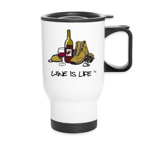 Wine is Life Hiking - Travel Mug - Travel Mug