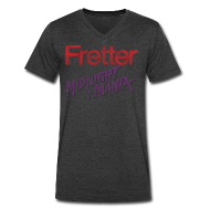 T-Shirts ~ Men's V-Neck T-Shirt by Canvas ~ Fretter Midnight Mania