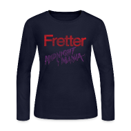 Long Sleeve Shirts ~ Women's Long Sleeve Jersey T-Shirt ~ Fretter Midnight Mania