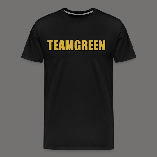 Greenish Shirt TeamGreen Gold (Mens) - Men's Premium T-Shirt