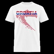 T-Shirts ~ Men's T-Shirt ~ Croatia Hrvatska granice Sahovnica