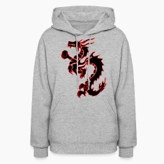 tribal_chinese_dragon bk/rd Hoodies