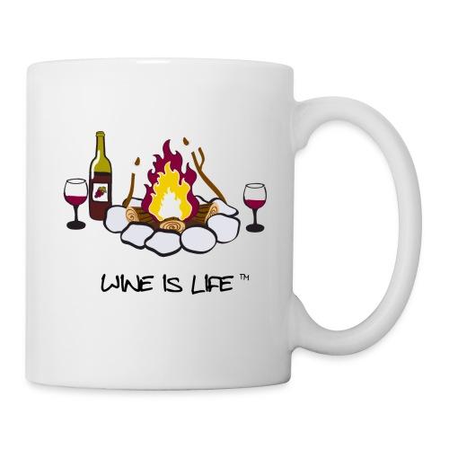 Wine is Life Campfire - Coffee Mug - Coffee/Tea Mug