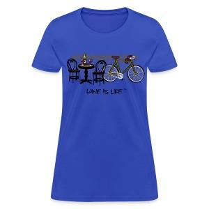 Bicycle Bistro Wine Stop - Womens Standard Tee - Women's T-Shirt
