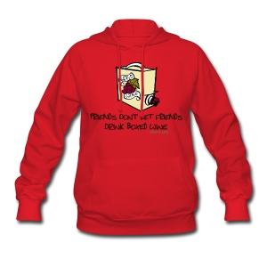 Boxed Wine - Womens Hooded Sweatshirt - Women's Hoodie
