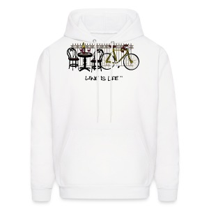 Bicycle Bistro Wine Stop - Mens Hooded Sweatshirt - Men's Hoodie