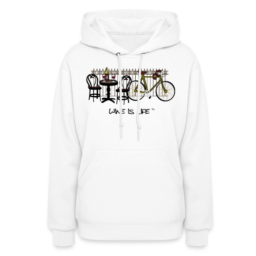 Bicycle Bistro Wine Stop - Womens Hooded Sweatshirt - Women's Hoodie