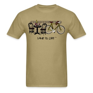 Bicycle Bistro Wine Stop - Mens Standard Tee - Men's T-Shirt