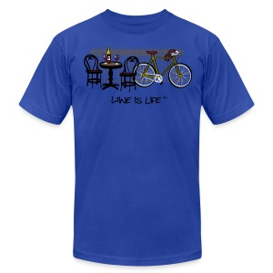 Bicycle Bistro Wine Stop - Mens Tee by American Apparel - Men's T-Shirt by American Apparel