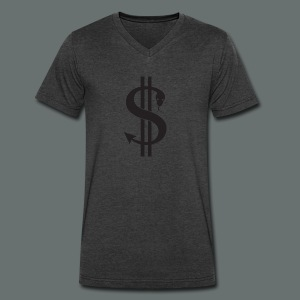 dollar snake - Men's V-Neck T-Shirt by Canvas