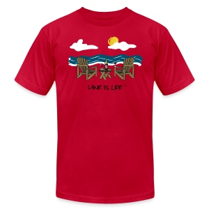 Adirondack Chairs - Men's T-Shirt by American Apparel