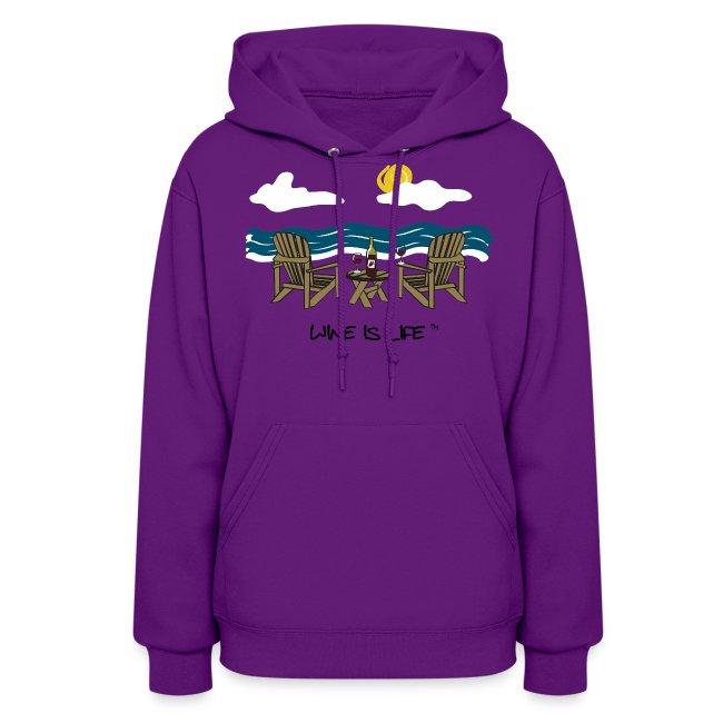 Adirondack Chairs- Womens Hooded Sweatshirt