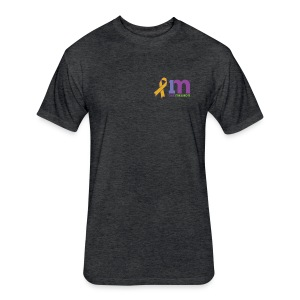 Special Edition: Gold Ribbon T-Shirt - Fitted Cotton/Poly T-Shirt by Next Level