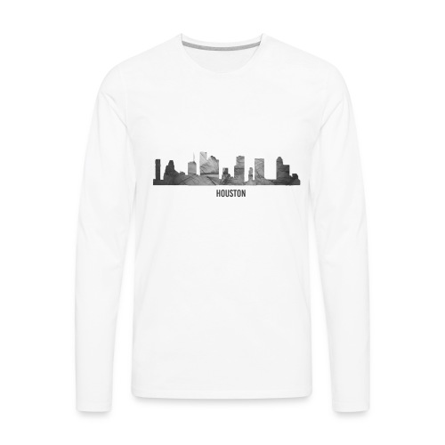 Houston Huricane Harvey Relief Shirt   - Men's Premium Long Sleeve T-Shirt