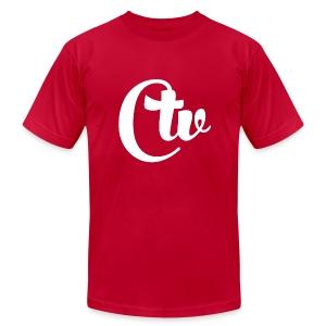 CTV(WHITE) MEN'S T-SHIRT - Men's Fine Jersey T-Shirt
