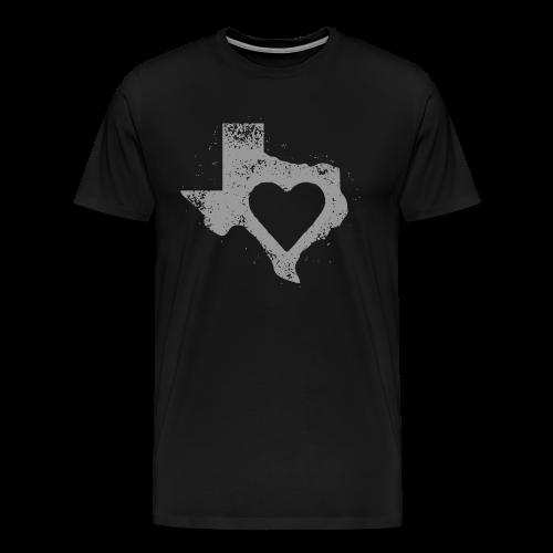 Men's I Left My Heart in Texas Vintage Style Tee - Men's Premium T-Shirt