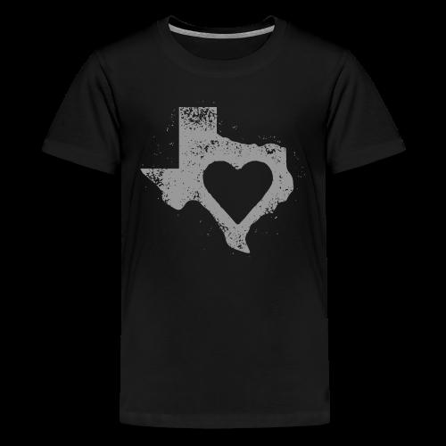 Kid's I Left My Heart in Texas Vintage Style Tee - Kids' Premium T-Shirt