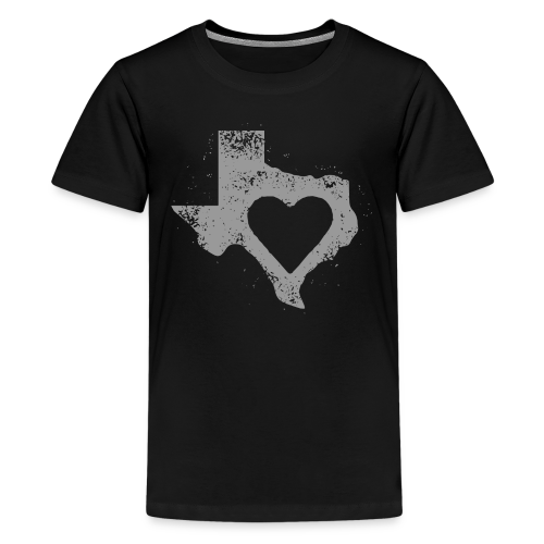 Kid's I Left My Heart in Texas Vintage Style Tee - Kids' Premium T-Shirt