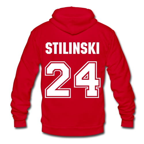 Stiles Stilinski Red Hoodie - Unisex Fleece Zip Hoodie by American Apparel