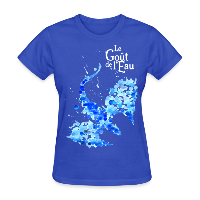 T-shirt pour femmes «Dragon liquide»