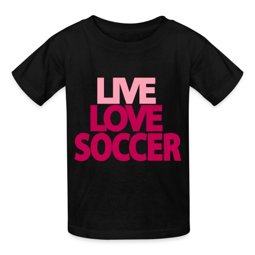 Live love soccer - Kids' T-Shirt