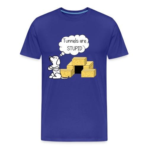 Tunnels are stupid - Men's Premium T-Shirt