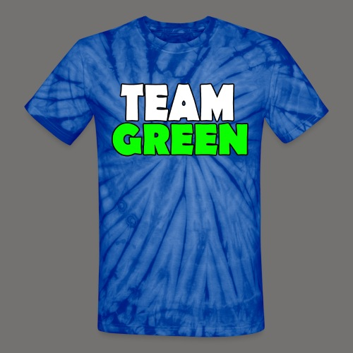Greenish Tie-Die Shirt TeamGreen - Unisex Tie Dye T-Shirt