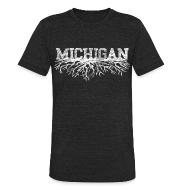 T-Shirts ~ Unisex Tri-Blend T-Shirt ~ My Michigan Roots