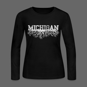My Michigan Roots - Women's Long Sleeve Jersey T-Shirt