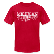 T-Shirts ~ Men's T-Shirt by American Apparel ~ My Michigan Roots