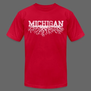 My Michigan Roots - Men's T-Shirt by American Apparel