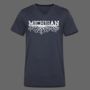 My Michigan Roots - Men's V-Neck T-Shirt by Canvas