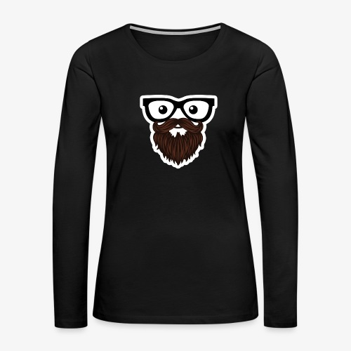 Brews Face Long Sleeve - Women's Premium Long Sleeve T-Shirt
