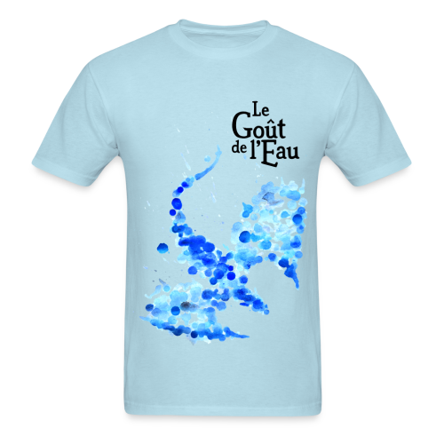 T-shirt pour hommes «Dragon liquide» logo noir - T-shirt pour hommes
