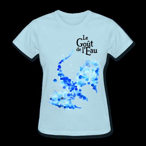 T-shirt pour femmes «Dragon liquide» logo noir - T-shirt pour femmes