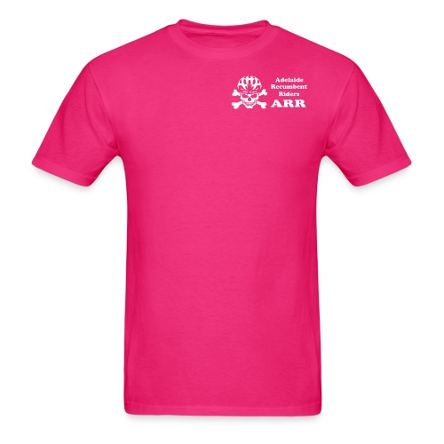 ARR HiVis Pink T-Shirt Small Logo - Men's T-Shirt