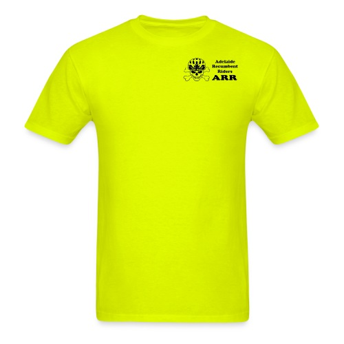 ARR HiVis Yellow T-Shirt Small Logo - Men's T-Shirt