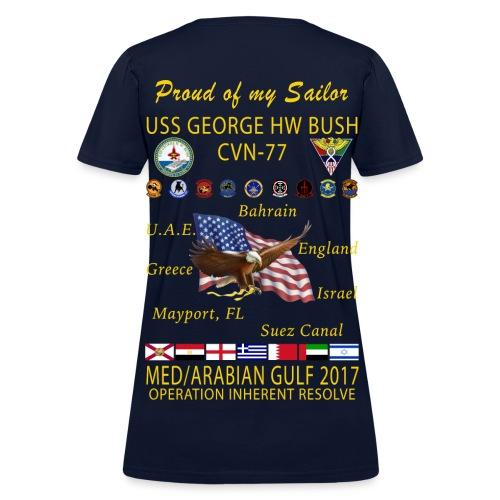 USS GEORGE HW BUSH 2017 CRUISE SHIRT - WOMEN'S - FAMILY EDITION - Women's T-Shirt