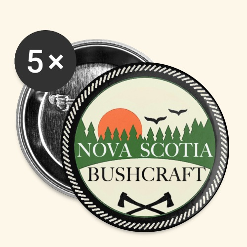 Nova Scotia Bushcraft button - Large Buttons