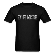 T-Shirts ~ Men's T-Shirt ~ Gov Org Industries T-Shirt Black