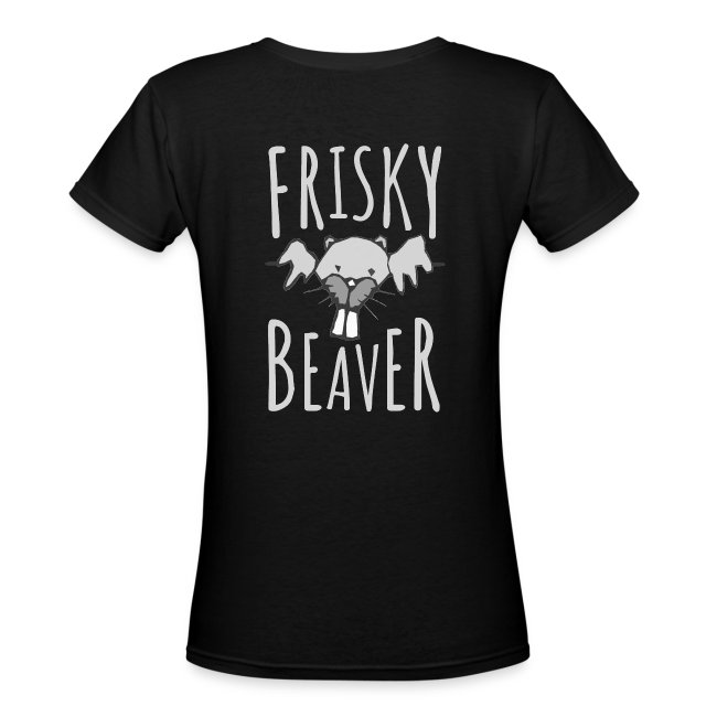 Frisky Beaver Women's Premium V-Neck T-Shirt
