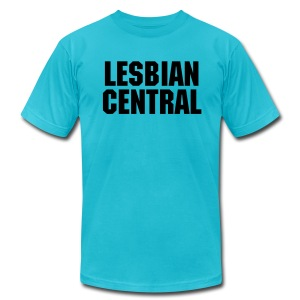 LesbianCentral (Men's - Turquoise) - Men's T-Shirt by American Apparel