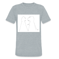 T-Shirts ~ Unisex Tri-Blend T-Shirt ~ T-Rex Trying to Hold Hands...