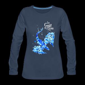 Chandail à manches longues pour femmes «Dragon liquide» - T-shirt Premium à manches longues pour femmes