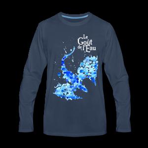 Chandail à manches longues pour hommes «Dragon liquide» - T-shirt Premium à manches longues pour hommes
