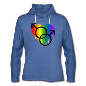 Gay Pride Hoodie Plus Size Rainbow Love Shirts - Unisex Lightweight Terry Hoodie