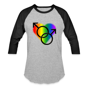 Gay Pride Shirts Rainbow Love Jersey - Baseball T-Shirt