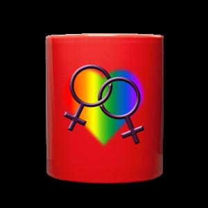 Gay Pride Mugs Rainbow Love Cups - Full Color Mug