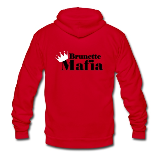 Unisex Fleece Zip Hoodie - princess,new jersey,mafia,jersey,crowns,brunette mafia,brunette