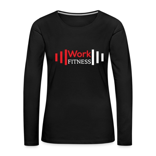 Work Fitness Long Sleeve Tee Women's Black - Women's Premium Long Sleeve T-Shirt